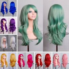 Lady Fashion 70cm Full Curly Wigs Cosplay Costume Anime Party Hair Wavy Wig
