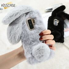 Luxury Rabbit Furry Winter Warm Fur Bling Phone Case Cover For Samsung Galaxy