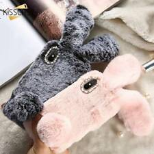 Luxury Rabbit Fur Cute Fluffy Phone Case Cover For iPhone XS XR MAX X 8 7 6 5