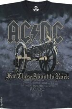 AC DC-CANNON-For Those About to Rock-Angus-TIE DYE TSHIRT S-M-L-XL-2X