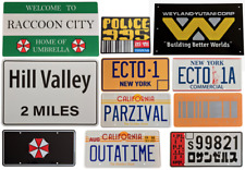 Movie License plates OUTATIME, ECTO1, ECTO1A, PARZIVAL, READY PLAYER ONE, ALIENS