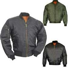 Mens MA1 Army Pilot Biker Bomber Security Fly Military Doorman Jacket Big Sizes