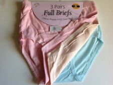 3pack Ladies Full Maxi 100% Cotton Pastel and Floral Briefs Knickers Underwear !
