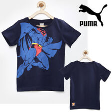 PUMA FUN Superman Boys Comic Book Crew Neck T-Shirt Kids Causal Tee 36649571c