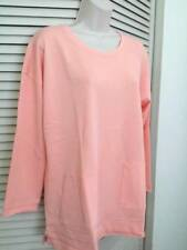 SOFT SURROUNDINGS Afternoon Walk Tunic Top- Apricot Blush SZ PS, PM, PL, PXL