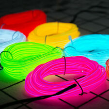 Neon LED Light Dance Party Decoration El Wire String Strip Rope + USB Controller