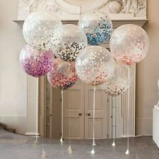 "Large 36"" CONFETTI FILLED BALLOONS Helium Quality Birthday Party Decorations UK"