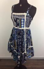 IZABEL LONDON, HANDKERCHIEF HEM, PATCHWORK LOOK,DRESS SIZE 12,14,16