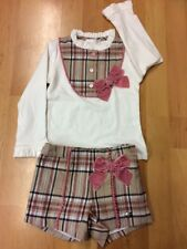 Girls Romany Spanish Short Set with Dusky Pink burberry inspired Age 2-.12
