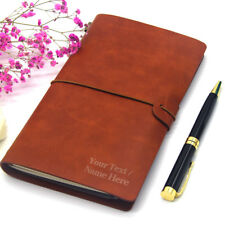 Personalised Notebook Leather Journal Diary Engraved Refillable Christmas Gift