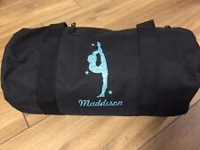 GYMNAST GLITTER PRINT PERSONALISED DANCE BAG ALSO SUITABLE FOR GYMNASTICS  bnwt