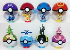 9 Pokemon Pokeball pop-up 7cm dibujos animados bola plástica Pikachu Monster