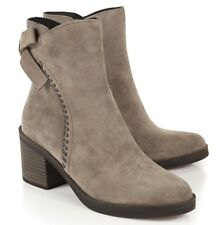 UGG Womens Fraise Whipstitch Zip Boots Mouse Grey