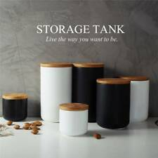 Food Storage Jar Ceramic Food Storage Bottle Spices Tank Container With Seal Lid