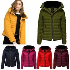 New Ladies Bubble Fur Collar Padded Quilted Puffer Jacket Womens Warm Parka Coat