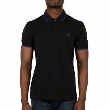 Fred Perry Twin Tipped Polo Shirt - Black / Medieval Blue