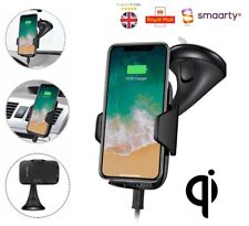 Qi Wireless Car Holder Cradle Mount Stand Fast Charger Charging For iPhone 8 X
