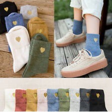 Women Casual Cute Heart Ankle High Short Soft Cotton Socks Fashion
