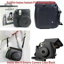 Fujifilm Instax Instant Film Camera Mini 8 Groovy Camera Case Black Tote Strap