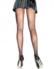 SEAMED STILETTO HEEL  STOCKINGS. ( SHEER)  BLACK & NATURAL ONE SIZE