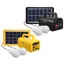DC 6V 3W Solar Powered System SOLAR Panel Rechargeable Battery LED Flashlight