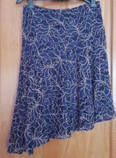 ZARA Navy Midi Asymmetric Two-Tone Lace Skirt BNWT SIZES M&L RRP £49.99