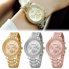 Designer Multi function Women Ladies Quartz Stainless Steel Wrist Watches + Box