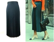 ZARA BLUE GREEN ACCORDION PLEATED MIDI SKIRT XS L  6 12 14 34 42