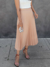 ZARA PALE PINK NUDE ACCORDION PLEATED SKIRT SIZE  XS, S ,M ,L