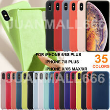 Original Silicone/Leather Case For iPhone X XS Max XR 7 8 Plus Genuine OEM Cover