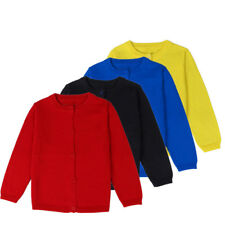 Kids Baby Knitwear Coat Tops Girls Boys Knitted Cardigan Sweater O-Neck 4Colours