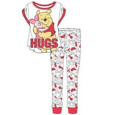 Ladies Girl's Winnie the pooh and Piglet  pyjama set Disney official  Pyjamas Pj