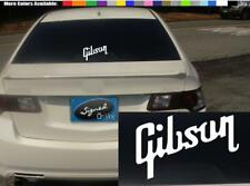 """(2) 12"""" GIBSON guitar case laptop vinyl Decal sticker any size color surface S49"""