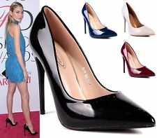 NEW WOMENS STILETTOS HIGH HEELS POINTED TOE COURT SHOES LADIES PUMPS SIZE 3-8