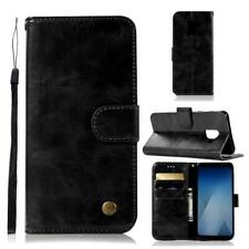 Retro Flip Leather Wallet Case Magnetic Stand Cover For Xiaomi Redmi Asus Phones