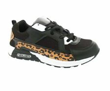 Children's Kids Boys Girls Black Leopard Multi Casual Shoes Trainers Sizes 10-5