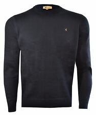 Mens Gabicci Vintage Cole Crew Knit Black