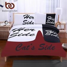 BeddingOutlet Black and White Bedding Set His Side & Her Side Cover with Pillowc