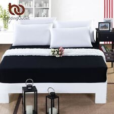 BeddingOutlet Mattress Cover Fitted Sheet Bedding Bed Sheet Bedding Solid Color