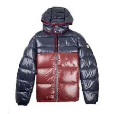 Moncler Harry Hooded Down Jacket Navy/Burgundy