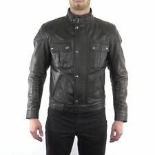 Belstaff Leather Brooklands Mojave motorcycle jacket - BLACK BROWN - ALL SIZES