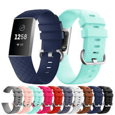 For Fitbit Charge 3 Replacement Sports Silicone Wrist Strap Wristband Watch Band