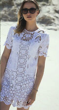 ZARA OFF WHITE GUIPURE LACE EMBROIDERED  DRESS BLOGGERS FAVOURITE S, M 1381042