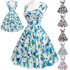 Women Rock Dress Evening Pinup Retro Housewife Vintage Party Swing Back Style