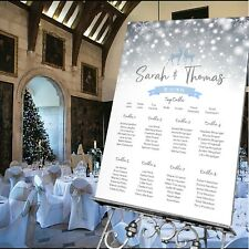 Personalised Winter Wedding Christmas Party Table Seating Plan