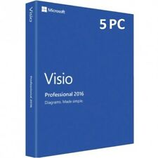 Microsoft Visio / Project 2016 Professional 1/2/3/4/5 PC Produktkey per email
