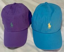 GENUINE POLO BY RALPH LAUREN MENS BASEBALL CAP (ONE SIZE)  BLUE AND LILAC