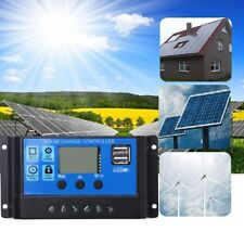 20A/30A Solar Panel Battery Regulator Charge Controller PWM LCD Display 12V/24V