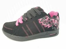 Children's Kids Girls Faux Suede Lace Up Casual Shoes Trainers Durable Size 13-5