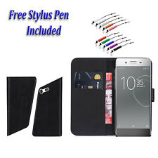 Luxury Magnetic Wallet Leather Side Open Flip Book Cover For Sony Xperia L1 UK